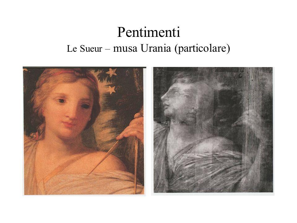 Pentimenti Le Sueur – musa Urania (particolare)