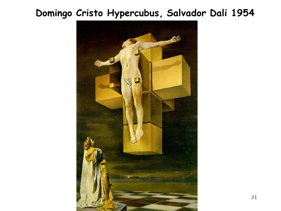 31 Domingo Cristo Hypercubus, Salvador Dali 1954