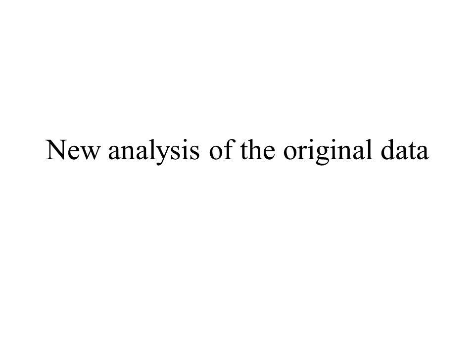 New analysis of the original data