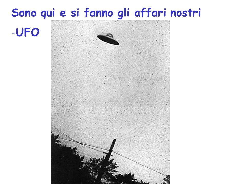 Sono qui e si fanno gli affari nostri -UFO