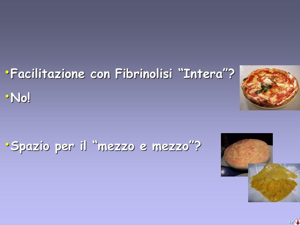 12 Facilitazione con Fibrinolisi Intera. Facilitazione con Fibrinolisi Intera.