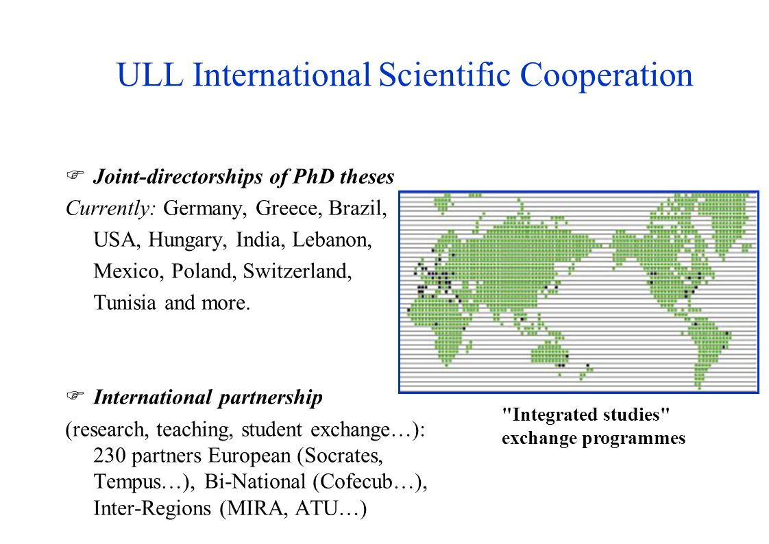 ULL International Scientific Cooperation