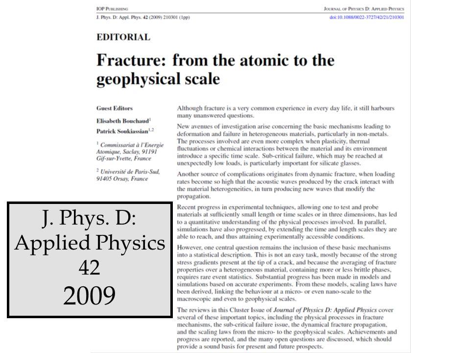 J. Phys. D: Applied Physics 42 2009