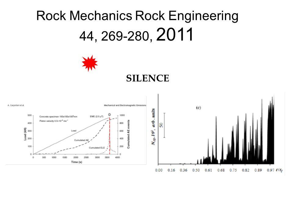 Rock Mechanics Rock Engineering 44, 269-280, 2011 SILENCE
