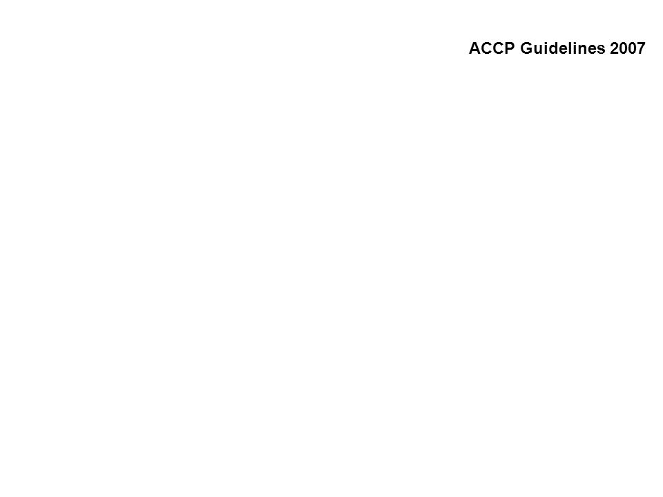 ACCP Guidelines 2007