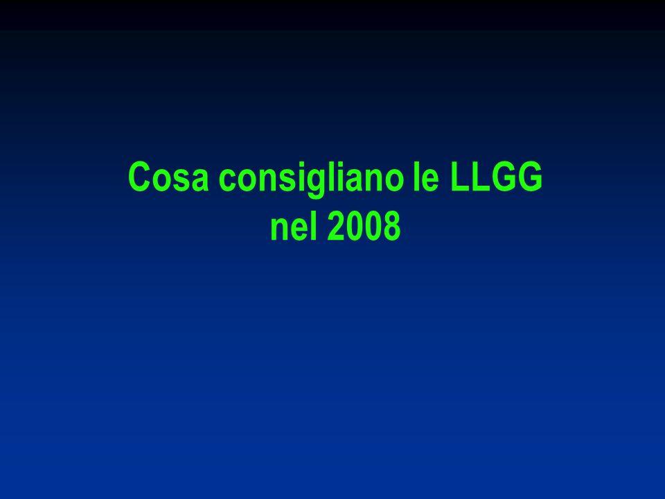 Cosa consigliano le LLGG nel 2008