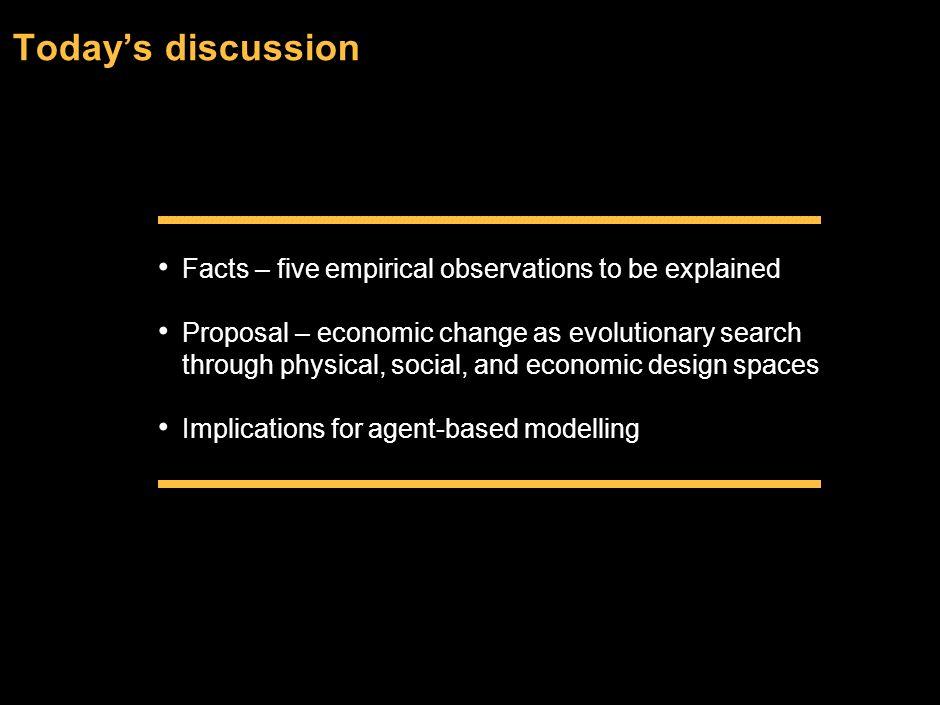 Modelling Economic Evolution Eric Beinhocker McKinsey Global Institute EC Workshop on the Development of Agent Based Models for the Global Economy and