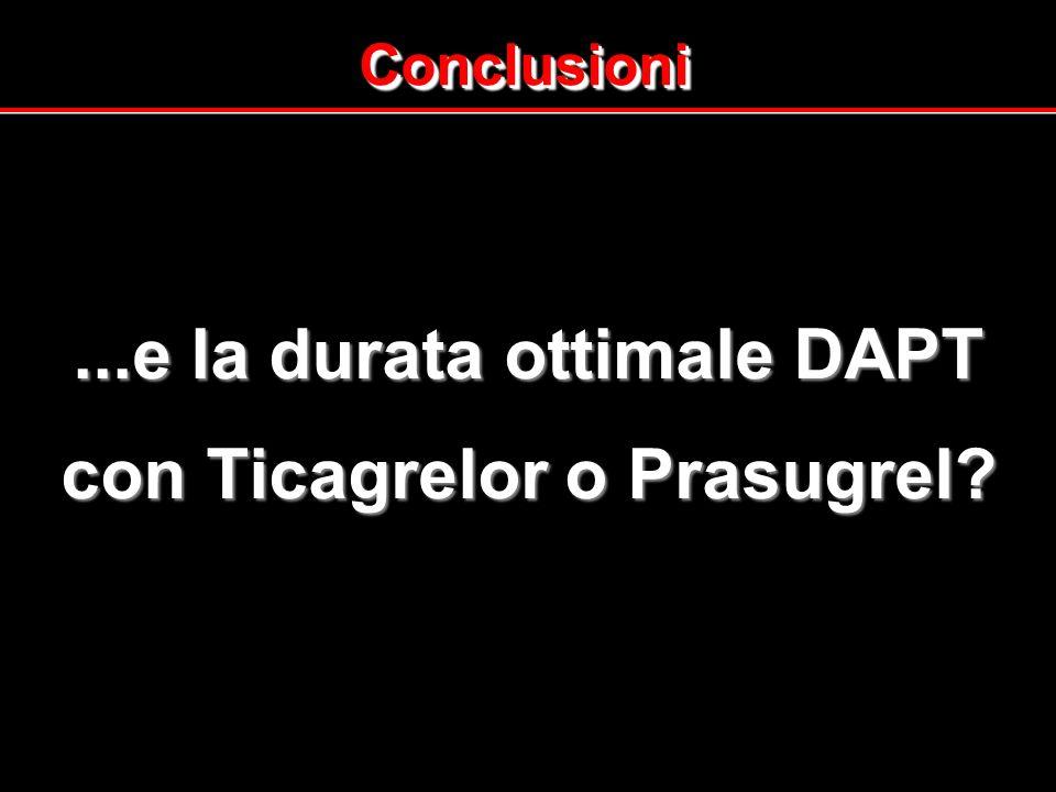 ConclusioniConclusioni...e la durata ottimale DAPT con Ticagrelor o Prasugrel?