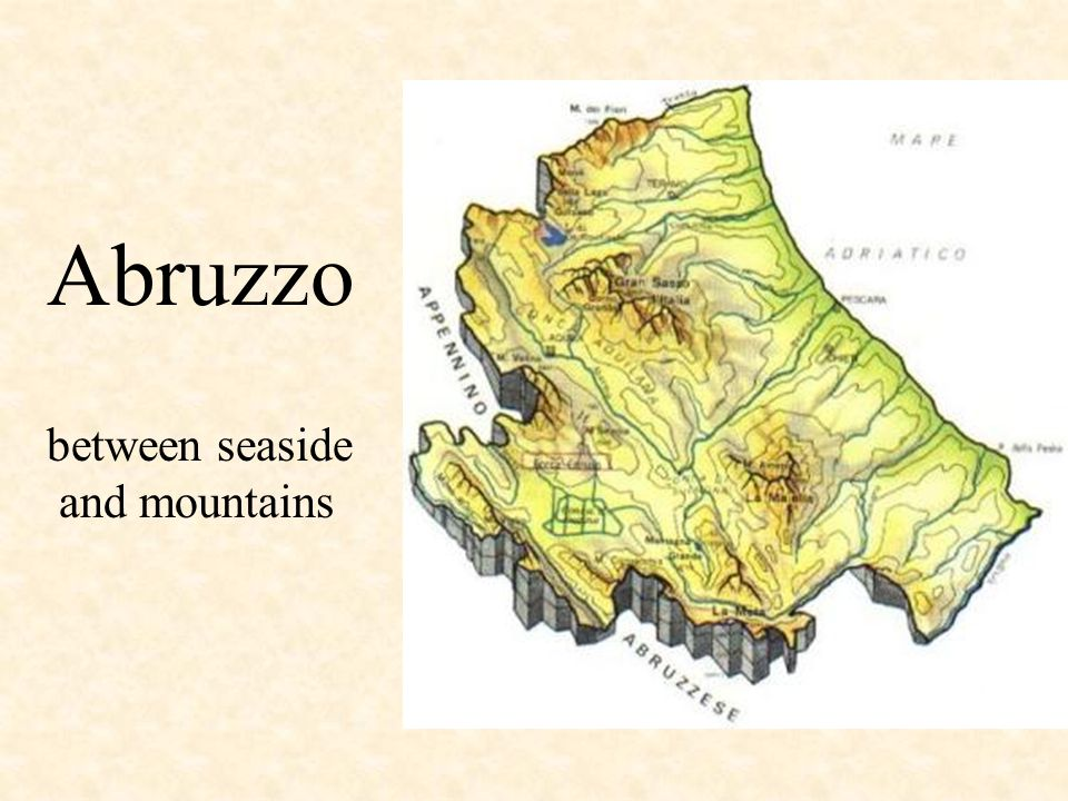 Abruzzo between seaside and mountains