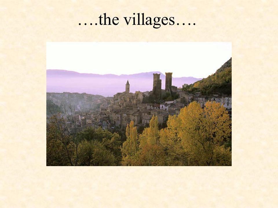 ….the villages….