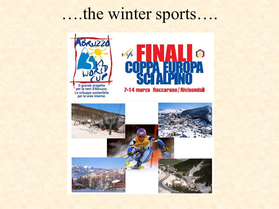 ….the winter sports….