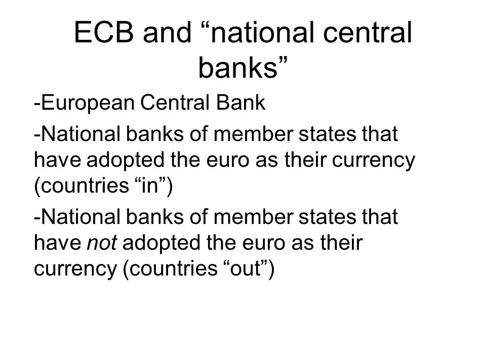 The formulation of monetary policy In accordance with the Statute of the ESCB (Article 12.1), the formulation of monetary policy for the euro area includestaking decisions on -intermediate monetary objectives, -key interest rates and -the supply of reserves in the Eurosystem (liquidità alle banche)