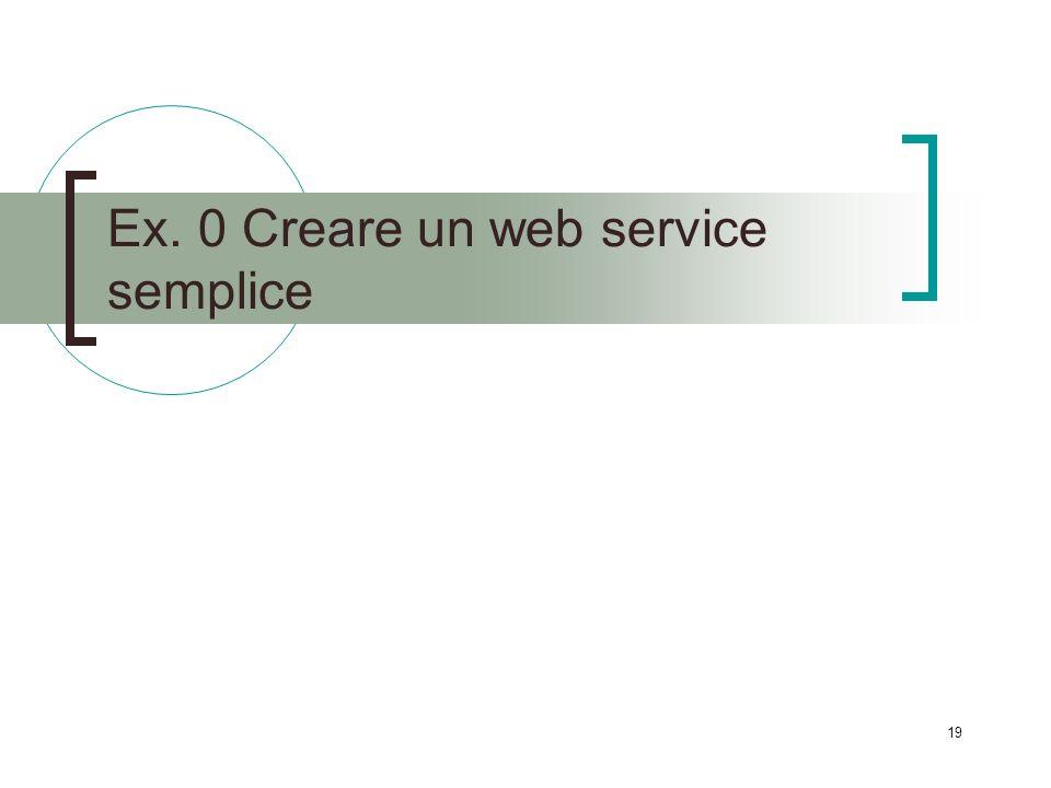 19 Ex. 0 Creare un web service semplice