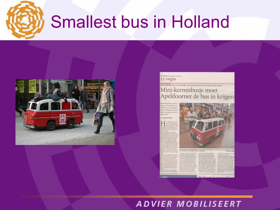 Smallest bus in Holland