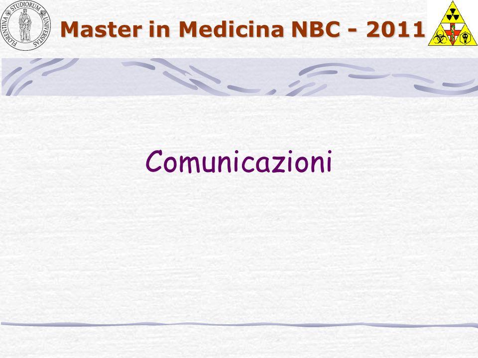 Master in Medicina NBC - 2011 Comunicazioni