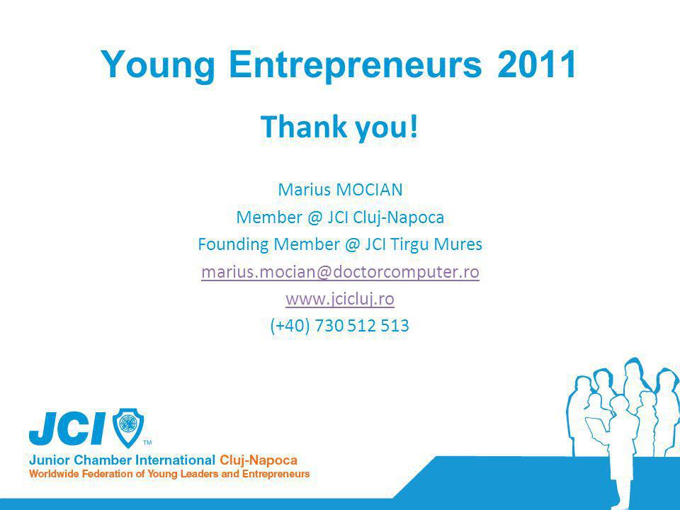 Young Entrepreneurs 2011 Thank you.