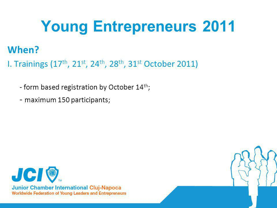 Young Entrepreneurs 2011 When. I.