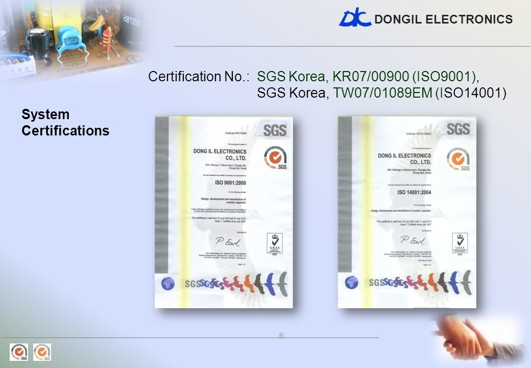 DONGIL ELECTRONICS 7 Product Certifications ENEC (FIMKO) DS : EN132400/1994