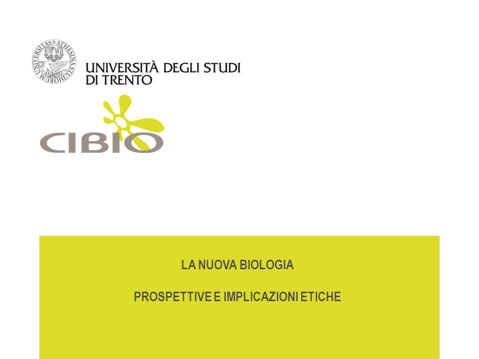 Uno sguardo alla nuova biologia Alessandro Quattrone