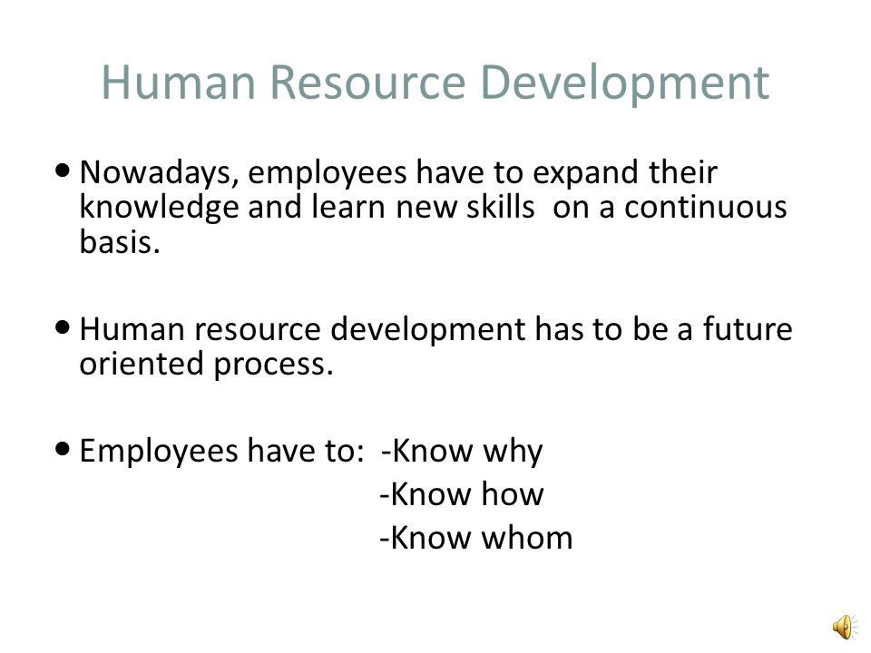 HRM in the Knowledge Economy Human resources are defined as the accumulated stock of knowledge, skills and abilities possessed by employees, which sho