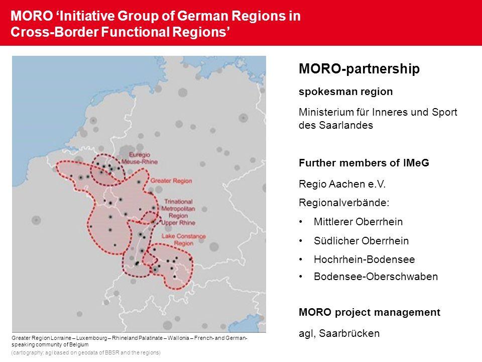 MORO Initiative Group of German Regions in Cross-Border Functional Regions MORO-partnership spokesman region Ministerium für Inneres und Sport des Saa