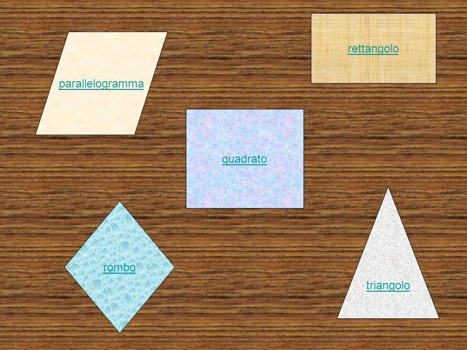 parallelogramma rettangolo rombo triangolo quadrato