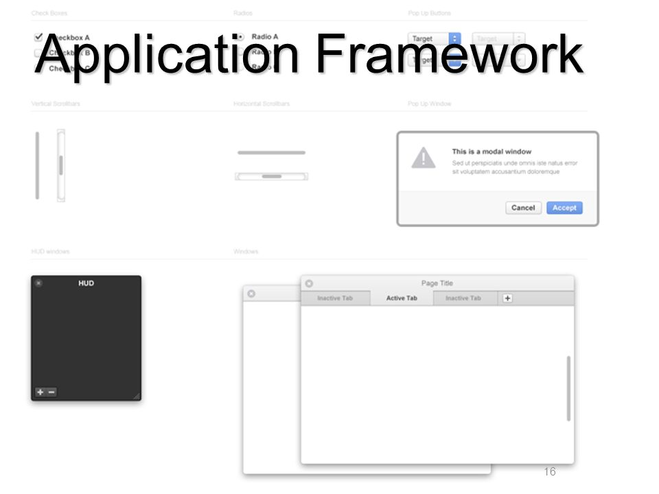 16 Application Framework