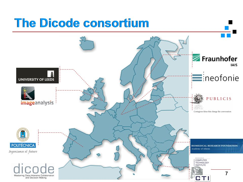 7 Kick-off meeting 6-7 Sept 2010 Project Overview The Dicode consortium
