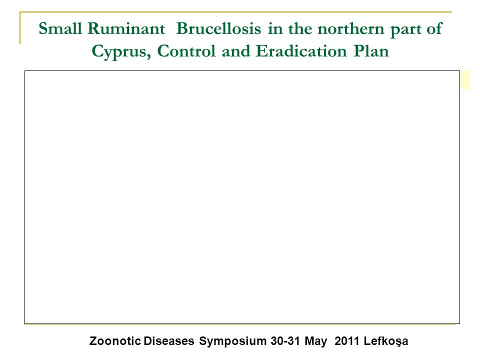 Small Ruminant Brucellosis in the northern part of Cyprus, Control and Eradication Plan 5.2.1. Laboratory Studies Collected blood serum samples will b