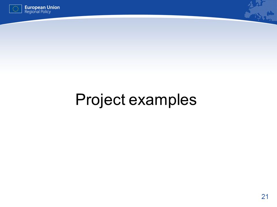 21 Project examples