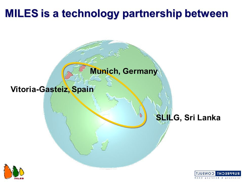 The partners are City of Munich Department of Health and Environment (co-ordinator) Sri Lanka Institute of Local Governance City of Vitoria-Gasteiz Environment Studies Centre of Vitoria-Gasteiz (CEAM) Rupprecht Consult GmbH, Cologne (sub-contractor)