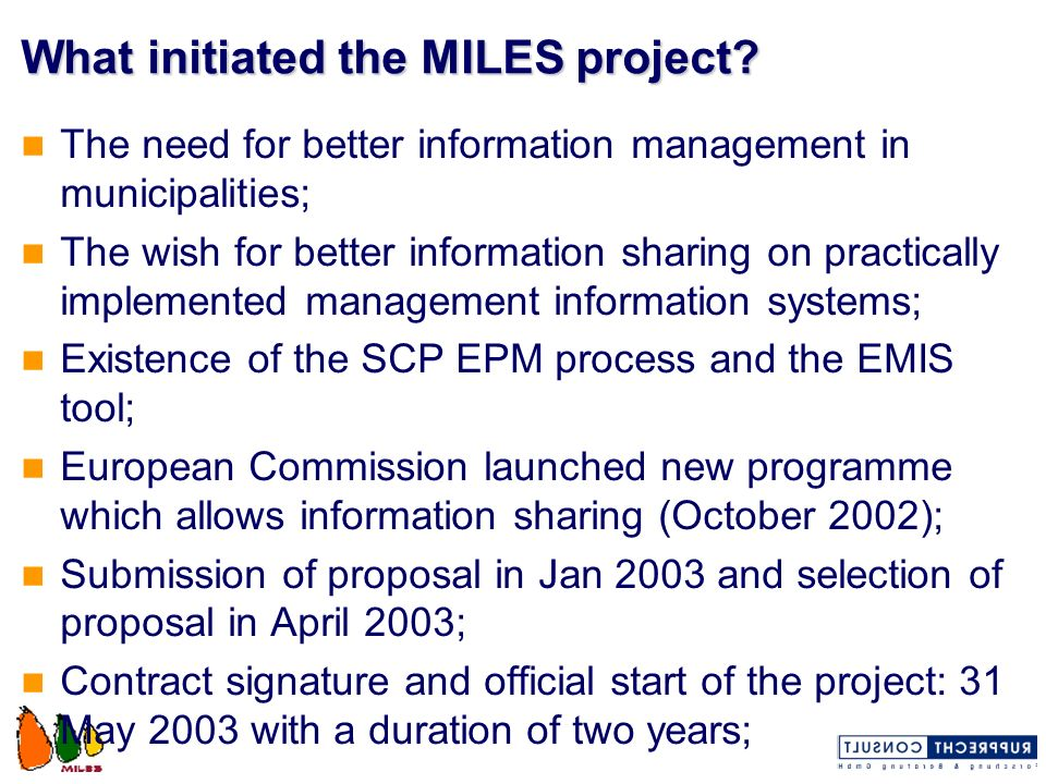 The MILES work packages: Strategic Exploitation Project Management Inception and Profiling Adaptation and Transfer Trainig of Trainers Local Application Support Evaluation and Dissemination...24Month 1...