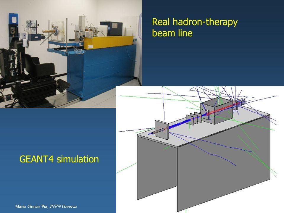 Maria Grazia Pia, INFN Genova 13 Real hadron-therapy beam line GEANT4 simulation