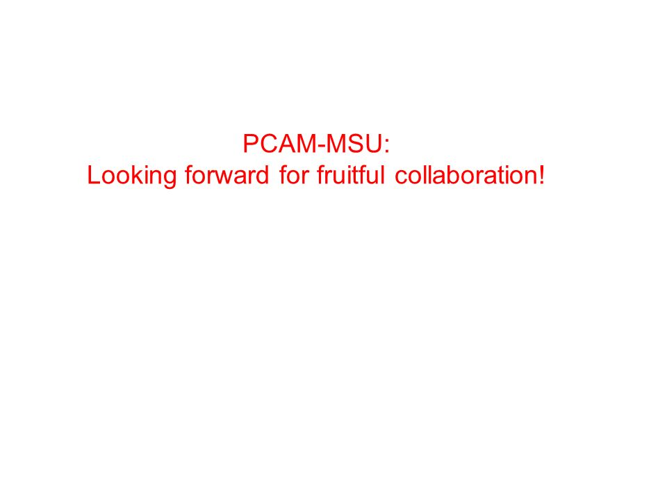 PCAM-MSU: Looking forward for fruitful collaboration!