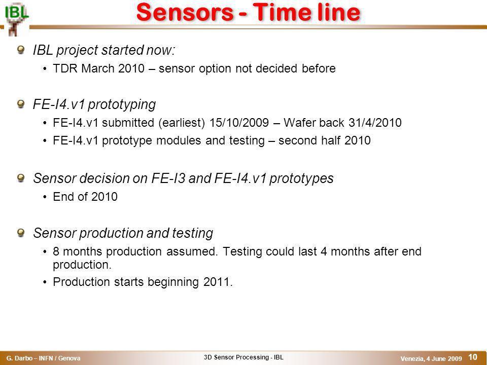 3D Sensor Processing - IBL G.
