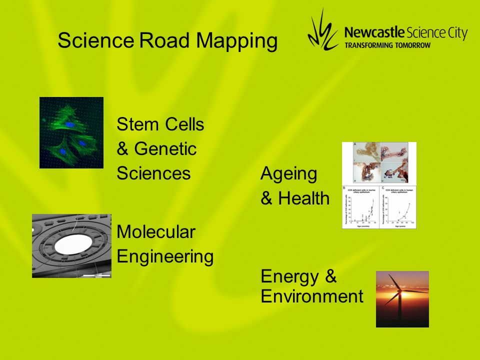 Science Road Mapping Stem Cells & Genetic SciencesAgeing & Health Molecular Engineering Energy & Environment