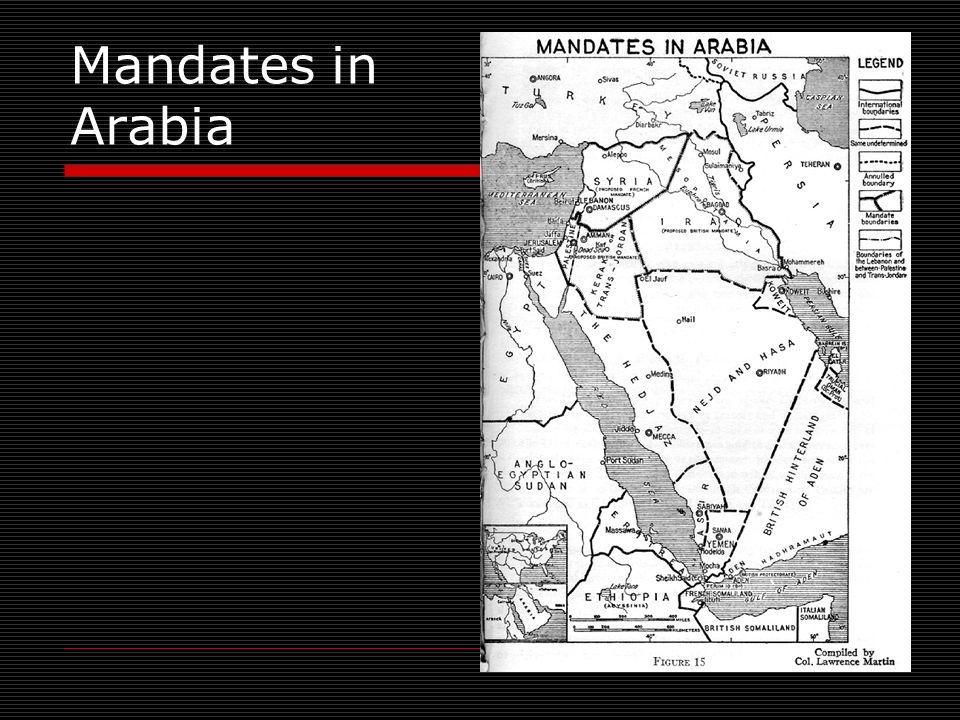 Mandates in Arabia
