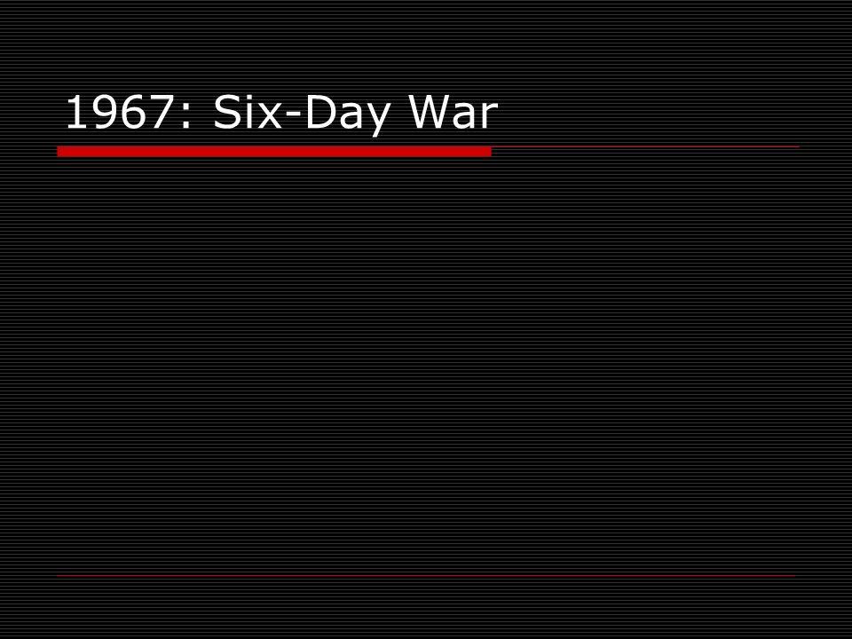 1967: Six-Day War