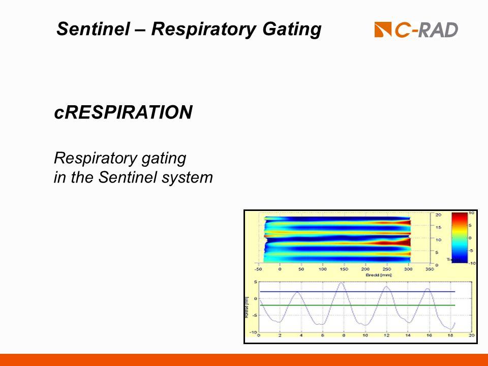 Sentinel – Respiratory Gating cRESPIRATION Respiratory gating in the Sentinel system