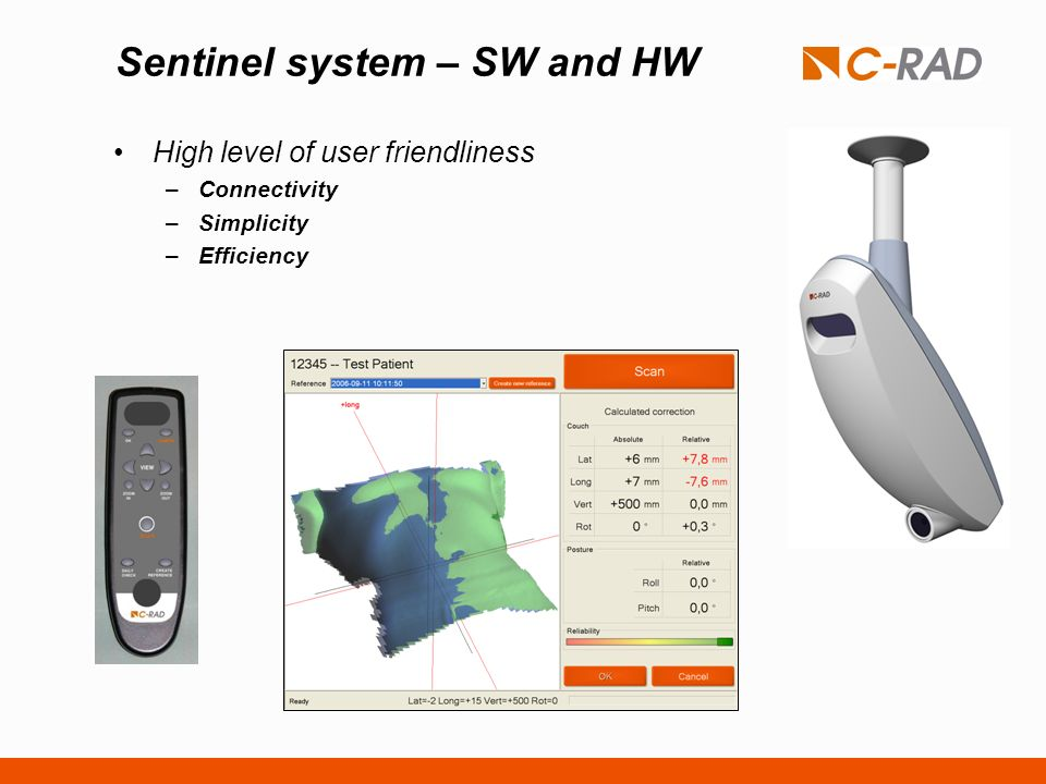 Sentinel system – SW and HW High level of user friendliness –Connectivity –Simplicity –Efficiency