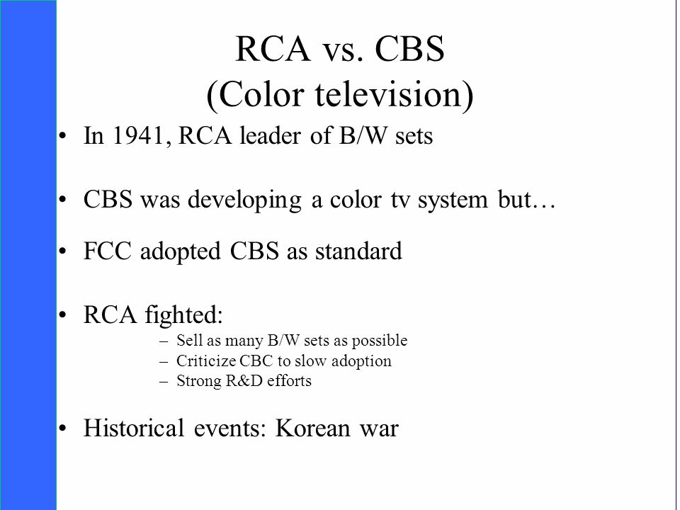 Copyright SDA Bocconi 2005 Competing Technologies, Network Externalities …n 36 RCA vs.