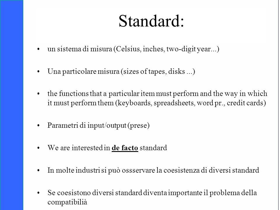 Copyright SDA Bocconi 2005 Competing Technologies, Network Externalities …n 6 Standard: un sistema di misura (Celsius, inches, two-digit year...) Una