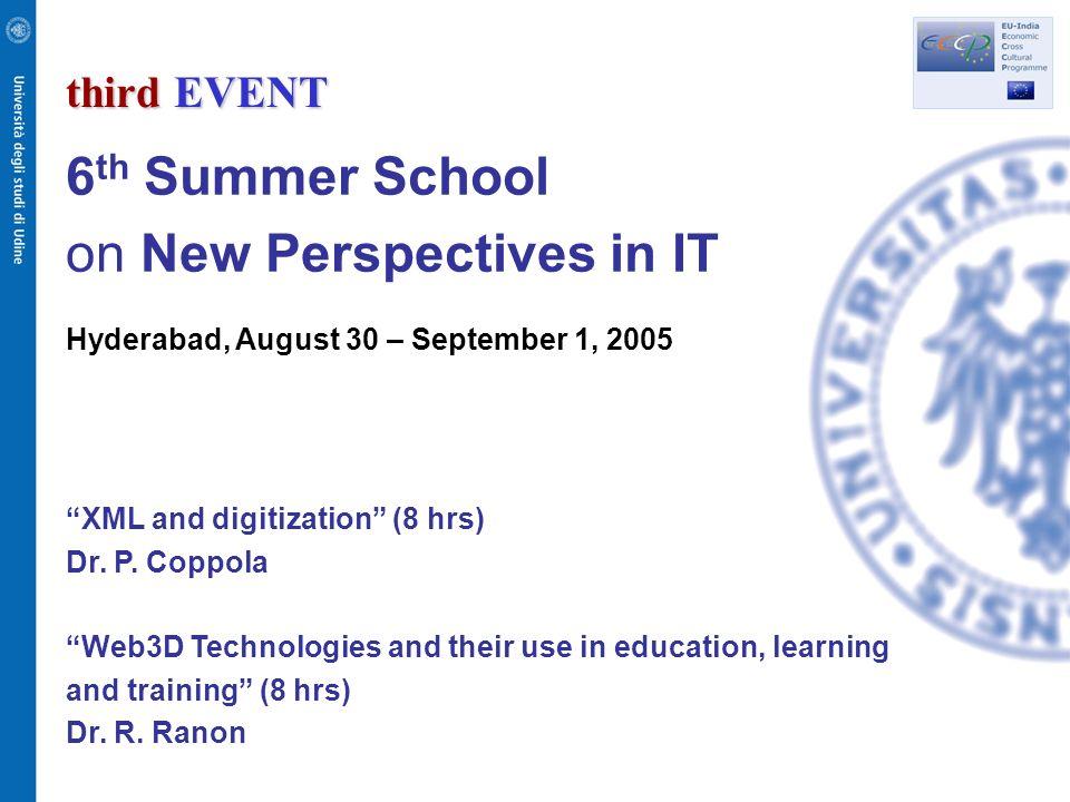 fourth EVENT Workshop on IT for Cross Cultural Fertilization Pune, September 2, 2005 Prof.
