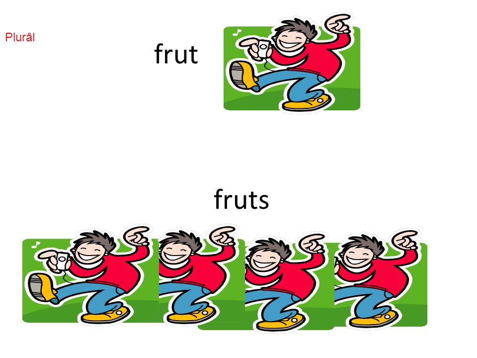 frut fruts Plurâl