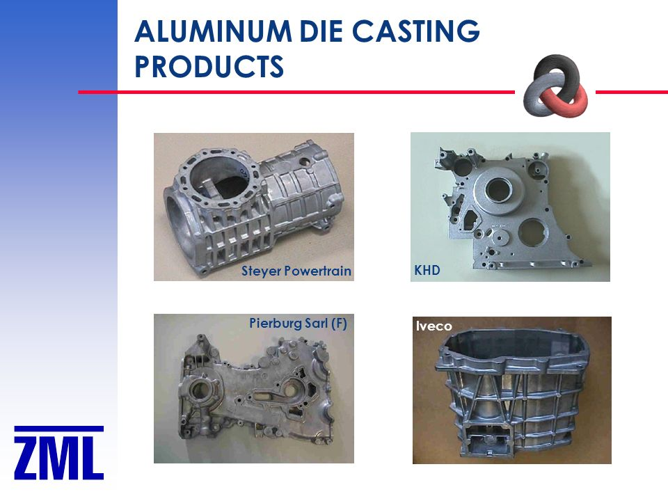 ALUMINUM DIE CASTING PRODUCTS Steyer Powertrain KHD Pierburg Sarl (F) Iveco