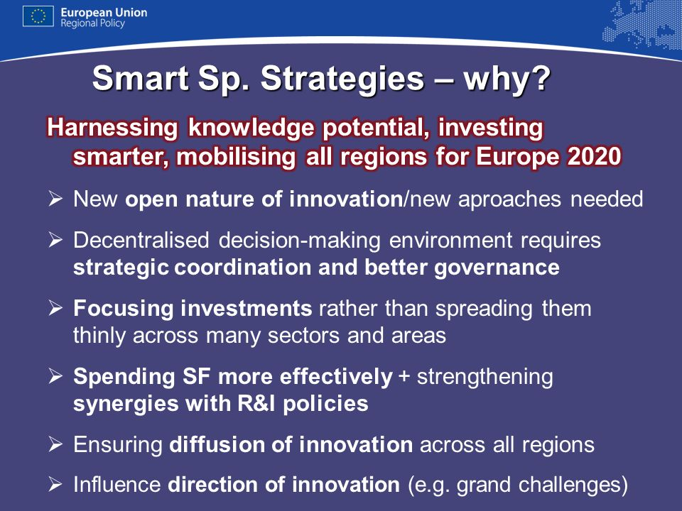 Smart Sp. Strategies – why?
