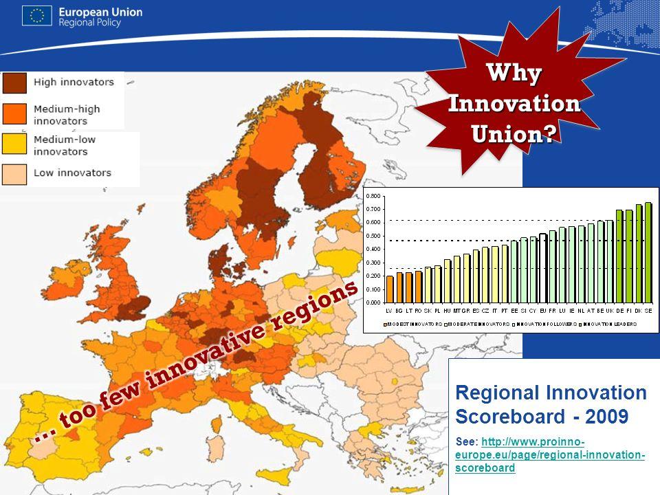 Regional Innovation Scoreboard - 2009 See: http://www.proinno- europe.eu/page/regional-innovation- scoreboardhttp://www.proinno- europe.eu/page/region