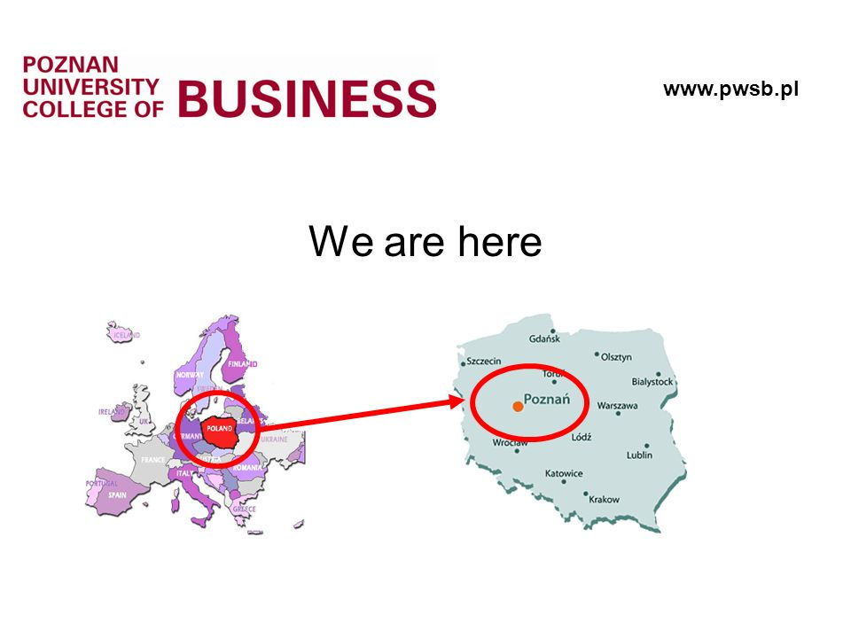 We are here www.pwsb.pl