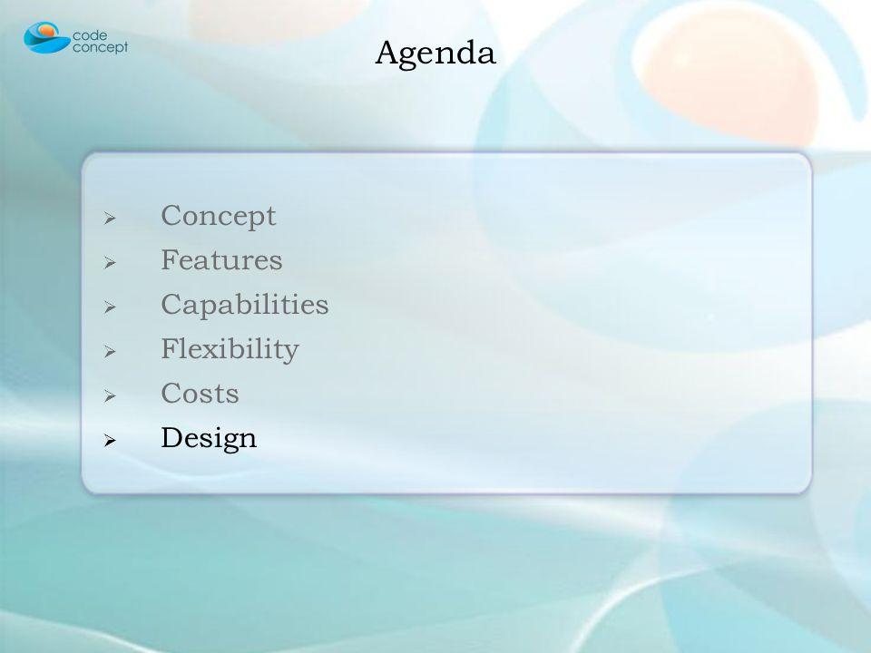 Concept Features Capabilities Flexibility Costs Design Agenda