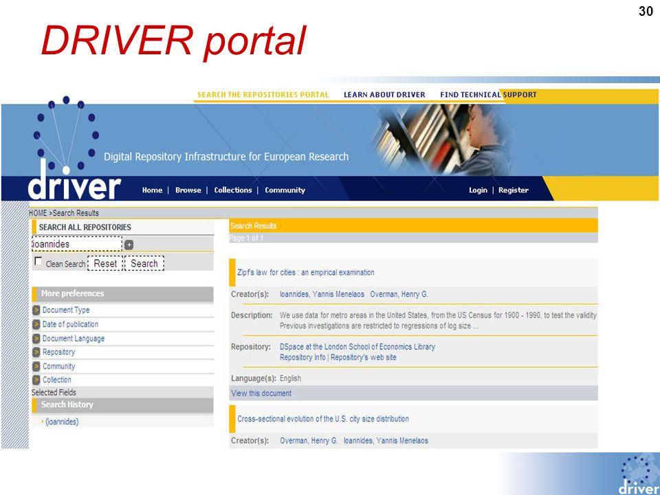 30 DRIVER portal